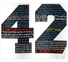 Hitchhiker's Guide 42 Quotes Poster