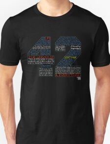Hitchhiker's Guide 42 Quotes T-Shirt