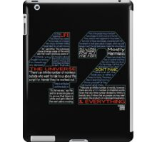 Hitchhiker's Guide 42 Quotes iPad Case/Skin