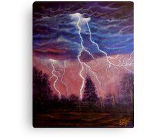 Thunder and lightning storm Canvas Print