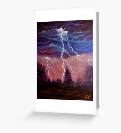 Thunder and lightning storm Greeting Card