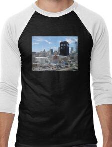 TARDIS Over Philly Men's Baseball ¾ T-Shirt