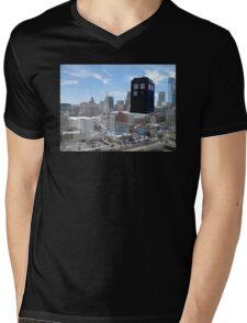 TARDIS Over Philly Mens V-Neck T-Shirt