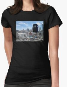 TARDIS Over Philly Womens Fitted T-Shirt