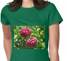 Sleeping in the Sun - Beautiful Crimson Blossoms Womens Fitted T-Shirt