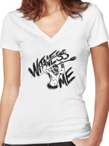 WITNESS ME Women's Fitted V-Neck T-Shirt