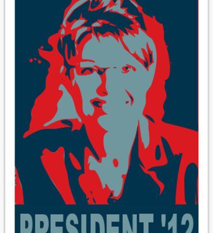 Sarah Palin President '12 Sticker
