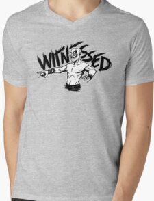 WITNESSED Mens V-Neck T-Shirt