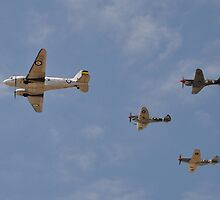 WW2 Formation Flypast, Point Cook Airshow, Australia 2014 by muz2142