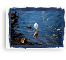 Coyote Point Marina....White Crane Canvas Print