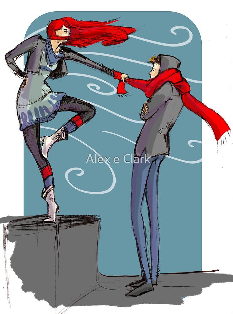 Winter - fashion illustration and romance by Alex e Clark