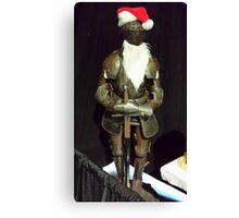 Santa Is A Knight Canvas Print