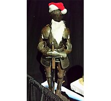Santa Is A Knight Photographic Print
