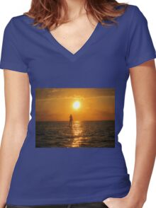Moment of Serenity Women's Fitted V-Neck T-Shirt