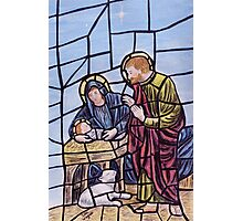 Stained glass nativity Photographic Print