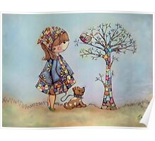 The Patchwork Tree Poster