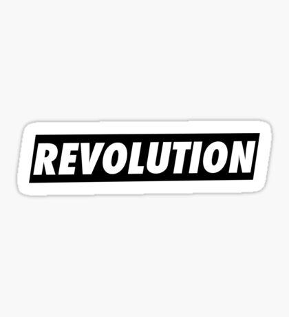'REVOLUTION' Simple but Stylish Typographical Design Sticker