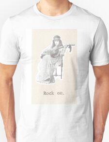 Rock On Vintage Bohemian Woman T-Shirt