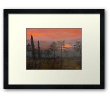 Silent Sentinels in the Sunset. Framed Print