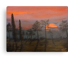 Silent Sentinels in the Sunset. Canvas Print