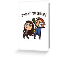 Ian & Mandy Make Mimosas (with text) Greeting Card