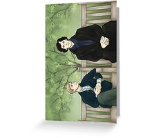 Park Bench.  Greeting Card