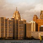 Detroit City Skyline 4 by Barry W  King