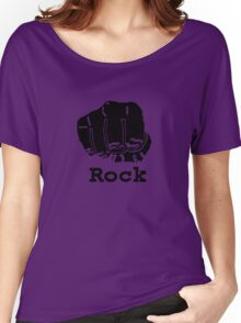 Rock Paper Scissors T-shirt (ROCK) Women's Relaxed Fit T-Shirt