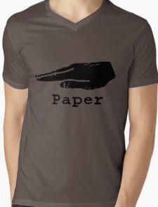 Rock Paper Scissors T-shirt (PAPER) Mens V-Neck T-Shirt