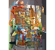 Collage Construct No. 2 with Poem Photographic Print