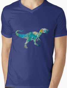 Dinosaur Mens V-Neck T-Shirt