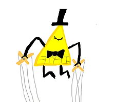 Bill cipher-puppet strings  Photographic Print