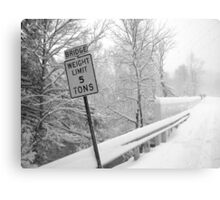 Weight Limit Canvas Print