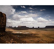 Cloud Shadows in Monument Valley Photographic Print