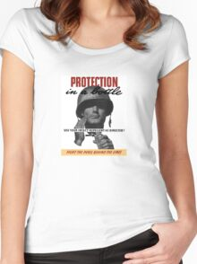 Use Your Insect Repellent As Directed! -- WW2 Women's Fitted Scoop T-Shirt
