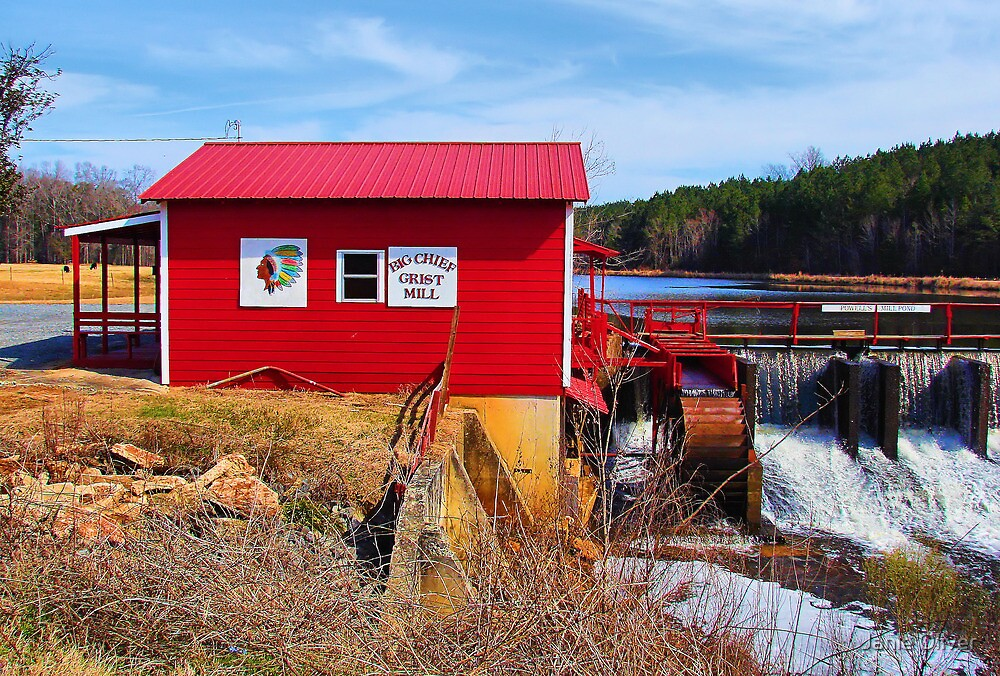 Big Chief Grist Mill by Janie Oliver