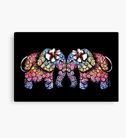 Tattoo Babies elephants Canvas Print