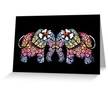 Tattoo Babies elephants Greeting Card