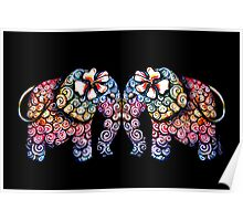 Tattoo Babies elephants Poster