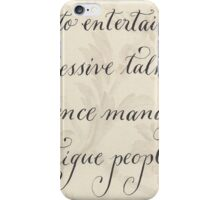 Motivational quote Silence handwritten calligraphy art  iPhone Case/Skin