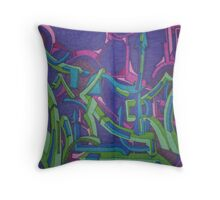 fusion demention Throw Pillow