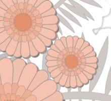 Peach Floral Print Sticker