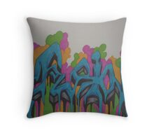 fusion (colorful) Throw Pillow