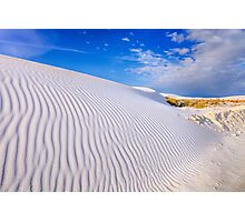Rolling Waves of Rippling White Photographic Print