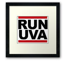 RUN UVA Framed Print