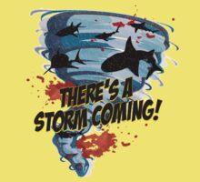 Shark Tornado - Shark Cult Movie - Shark Attack - Shark Tornado Horror Movie Parody - Storm's Coming! One Piece - Short Sleeve
