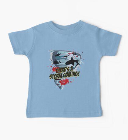 Shark Tornado - Shark Cult Movie - Shark Attack - Shark Tornado Horror Movie Parody - Storm's Coming! Baby Tee