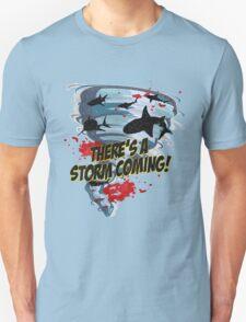 Shark Tornado - Shark Cult Movie - Shark Attack - Shark Tornado Horror Movie Parody - Storm's Coming! Unisex T-Shirt