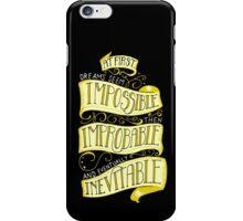 Inevitable Dream - Dark iPhone Case/Skin