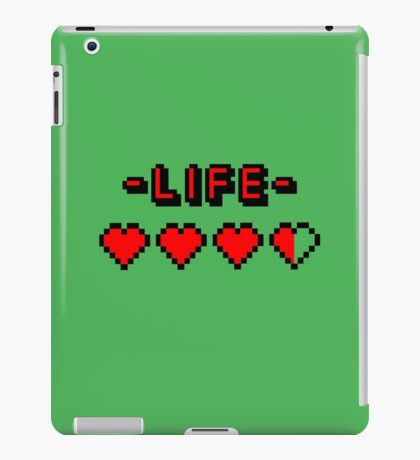 8-bit gamer lifebar iPad Case/Skin